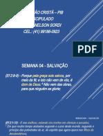 SEMANA 04 – SALVAÇÃO_Apresentação