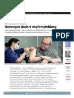 COVID19 - Nebenwirkungen bei Senioren - Norwegen ändert Impfempfehlung