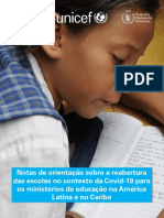 Notas Orientacao Sobre Reabertura Escolas Contexto Covid 19 Para Ministerios Educacao Na America Latina e No Caribe