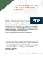 O Jogo Digital On-Line e as Funções Cognitivas de Atenção e Memória em Matemática Um Estudo em Neurociências