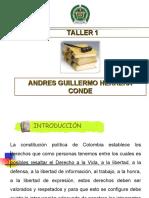ANDRES HERRERA LEGISLACION DE TRANSITO TALLER 1