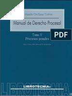 Manual de Derecho Procesal. Tomo 5 - Fernando Orellana Torres