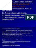 Capitolul 2. Observarea statistuica