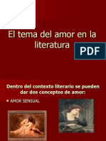 -AMOR EN LA LITERATURA