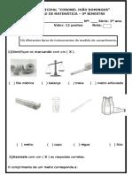 avaliação de matematica 3º bi-2015 2º ano PARA SIMULADO