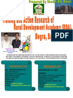 """Training and Action Research of Rural Development Academy (RDA), Bogra, Bangladesh.""************By Sheikh Md. Rasel"
