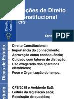 PPT Direito Constitucional CFS