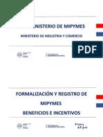 (Formalización y Beneficios de MIPYMES)