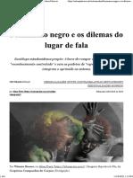 Feminismo negro e os dilemas do lugar de fala - (OM 16Jul19)