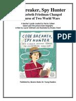 Code Breaker, Spy Hunter Teaching Guide