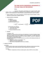 3.MEDIDAS ORDENANDO ASCENDENTE O DESCENDENTEMENTE ESTADISTICA 18 ABRIL