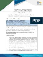 Guía de Actividades y Rúbrica de Evaluación - Unidad 1 - Fase 2 - Identificar El Problema de Telecomunicaciones