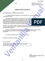 Escrito que solicita aclaración de sentencia Exp. N° 017-2019 PI/TC