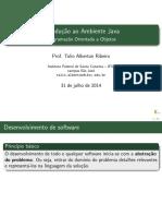 Introdução ao Ambiente Java - Programação Orientada a Objetos