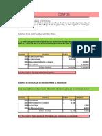 Taller Costos (Materia Prima, Mano de Obra, Costos Indirectos de Fabricacion)