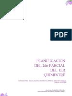 Planificación Del 2do Parcial Del 1er Quimestre
