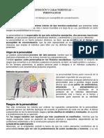 Definición y Características de La Personalidad - 11mo
