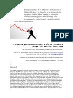 Un Análisis Del Comportamiento de La Inflación y El Desempleo en Colombia Los Últimos 20 Años