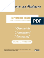 Imprimible Geometría Ornamental Montessori
