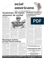 `Foro Social Latinamericano', Green Left Weekly's Spanish-language supplement, February 2011 issue