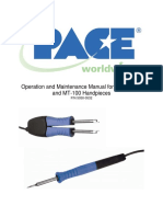TD-100 & MT-100 Handpiece Manual