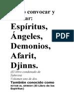 Cómo Convocar y Mandar Espíritus, Ángeles