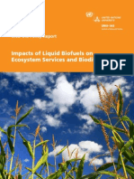 Impacts of Liquid Biofuels on Ecosystem Services and Biodiversity