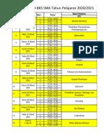 Jadwal Evaluasi Hasil Belajar Ktehun 2020-2021