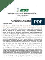 IESS-RESOLUCIÓN No. C.D. 604 EFECTO COVID-19 AGOSTO 2020