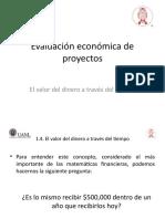 Evaluación Económica de Proyectos - 1.4 Valor Del Dinero en El Tiempo