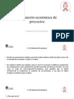 Evaluación económica de proyectos - 3.4 Evaluación Económica
