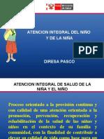 Atención Integral Del Nino y de La Nina