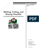Welding, Cutting and Brazing Checklist