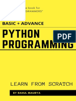 Python Programming Tutorials ( BASIC + ADVANCE )_ Learn From Scratch With Examples
