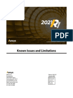 ANSYS_Inc._Known_Issues_and_Limitations