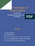 CHAP 1 Généralités Sur l'Audit Interne