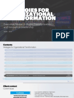 Strategies for Organizational Transformation - Business Case