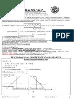 1ª Lista de Teoria e Exercícios para a disciplina 1408 Cálculo I na turma 1HX em 2011.