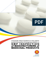 31. October 2015 FAQ on the ASEAN MRA on GMP Inspection of Manufacturers of Medicinal Products