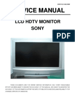sony KLV-40U100M service manual