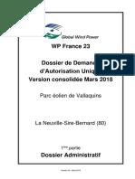 WP_France_23-2018_03 - DDAU - Parc Éolien de Vallaquins -01- Dossier Administratif
