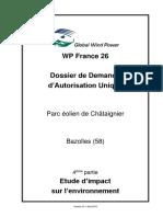 WP_France_26-2018_08 - DDAU - Parc Éolien de Châtaignier -4- Etude d'Impacts