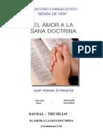 EL AMOR A LA SANA DOCTRINA