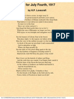 EBOOK H.P.LOVECRAFT - ODE FOR JULY FORTH, 1917