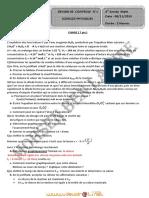 Devoir de Contrôle N°1 Lycée pilote - Sciences physiques - Bac Mathématiques (2012-2013) Mr Mohsen ben Lamine