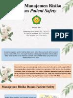 PPT K3 Kel 10 Peran Manajemen Risiko dalam Patient Safety