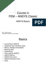 FEM ANSYS Classic Basics