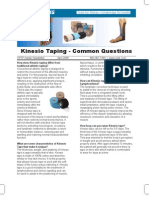 Kinesio Taping - Common Questions - Apr 2008