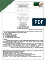 Variação linguística - exercícios comentados