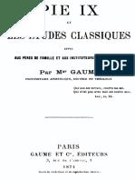 Pie IX Et Les Etudes Classiques 000000420